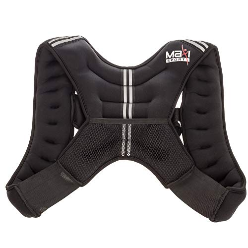 MaxiClimber MaxiSport Weight Vest, 12 lbs - Maximize Resistance and Workouts