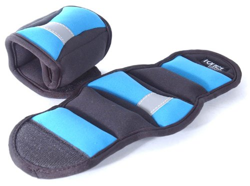 Tone Fitness Wrist/Ankle Weights (Pair), 3 lb, Blue