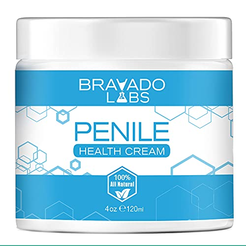 Penile Health Cream - Bravado Labs - 100% Natural Moisturizing Skin Care - Relieves Chafing, Itching, Redness, Dryness, Tenderness, Cracking (4oz)