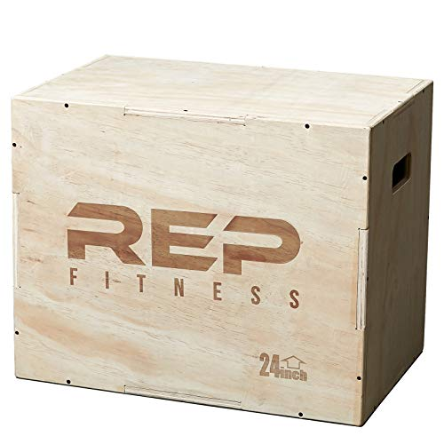Rep 3 in 1 Wood Plyometric Box for Jump Training and Conditioning 30/24/20