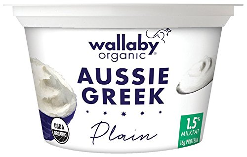 Wallaby Organic, Greek Low-Fat Organic Yogurt, Plain, 6 oz