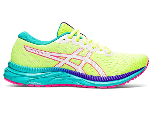 ASICS Women's Gel-Excite 7 Running Shoes, 9M, Safety Yellow/White
