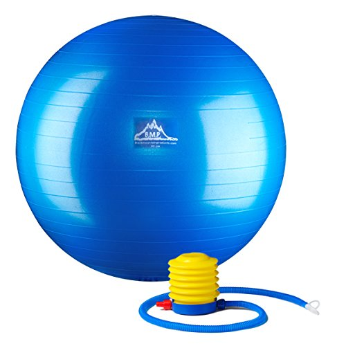 Black Mountain Products Professional Grade Stability Ball, Blue, 65cm