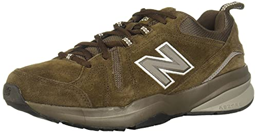New Balance Men's 608 V5 Casual Comfort Cross Trainer, Chocolate Brown/White, 8 W US