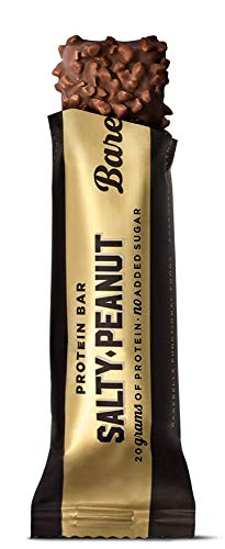 Barebells - High Protein Bars with 20g Protein - Low Sugar, Low Carb Protein Bar - Tasty, High Protein Snacks (Salty Peanut, 12 Pack)
