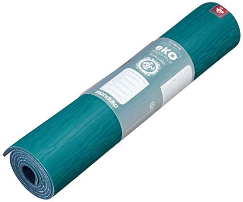 Manduka eKO Yoga Mat – Premium 6mm Thick Mat, Eco Friendly and Made from Natural Tree Rubber. Ultimate Catch Grip for Superior Traction, Dense Cushioning for Support and Stability., Sage, 71'