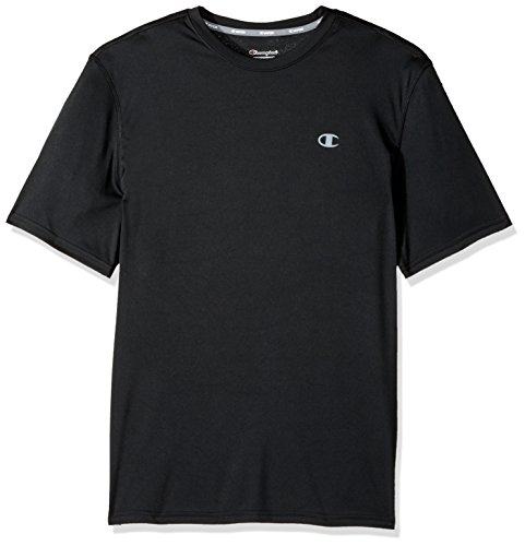 Champion Men's Double Dry T-Shirt, Black, XL