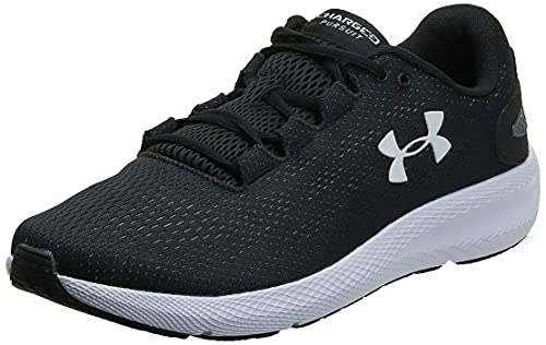 Under Armour Men's Charged Pursuit 2 Running Shoe, Black (001)/White, 11 M US