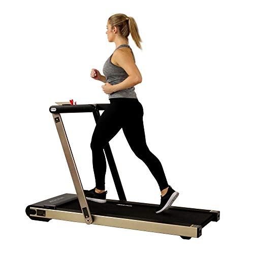SUNNY HEALTH & FITNESS ASUNA Space Saving Treadmill, Motorized with Speakers for AUX Audio Connection - 8730G