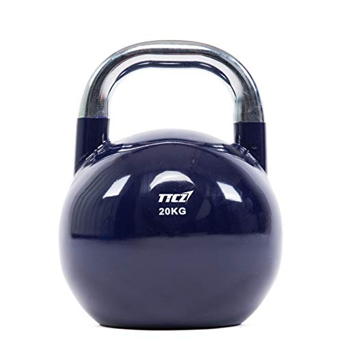 POWERT Competition Kettlebell|Premium Quality Coated Steel|Ergonomic Design|Great for Weight Lifting Workout & Core Strength Training& Muscle Building|Color Coded (F-20KG)