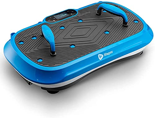 LifePro Waver Press Vibration Plate Exercise Machine   Vibrating Platform for Whole Body Fitness, Lymphatic Drainage, Weight Loss, Power Push Ups, Pressotherapy   Max User Weight 330 lb
