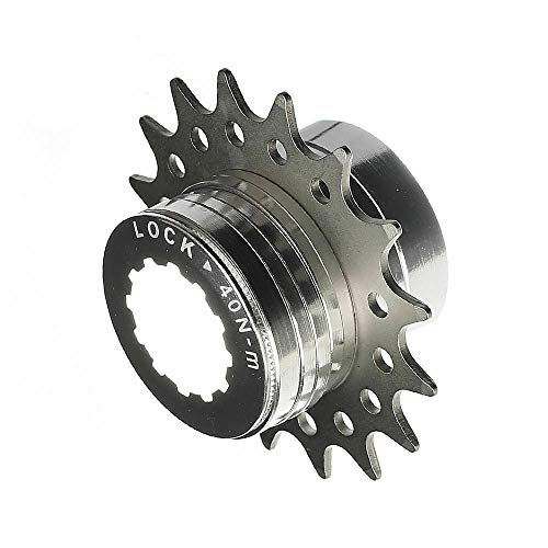 CyclingDeal Conversion Kit Fixie Bike Single Speed Compatible with Shimano Sram Cassette Freewheel Hub Adaptor - for Mountain and Road Bike Gear Cog Spacers 16 Teeth