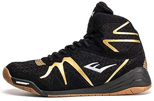 Everlast PIVT Low Top Boxing Shoes - Size 8 Black/Gold