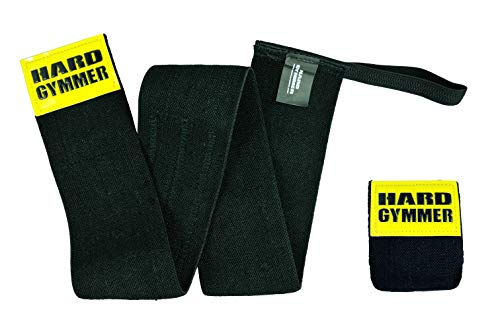HARD GYMMER Pro 40' Cotton Elbow Wraps with Loop | Compression Adjustable Elbow Support for Women & Men | Power Lifting, Weightlifting, Bodybuilding, Weight Training