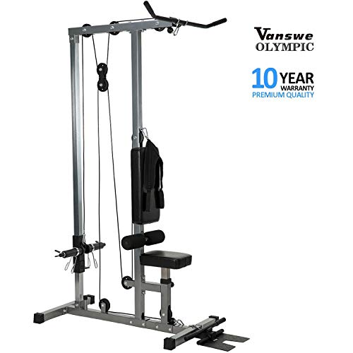 LAT Pulldown Low Row Cable Pull Down Machine with Dulex Back Pad and Removable Front Steel Foot Rest (VA- 2)
