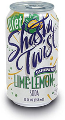 Shasta Diet Lime Lemon Twist Soda, 12-Ounce Cans (Pack of 24)