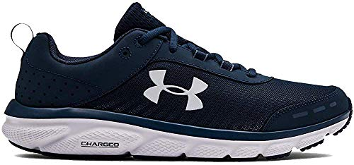 Under Armour Men's Charged Assert 8 Running Shoe, Academy Blue (401)/White, 15