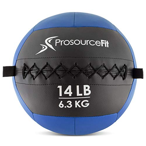 ProsourceFit Soft Medicine Balls for Wall Balls and Full Body Dynamic Exercises, Color-Coded Weights_ 14 lb