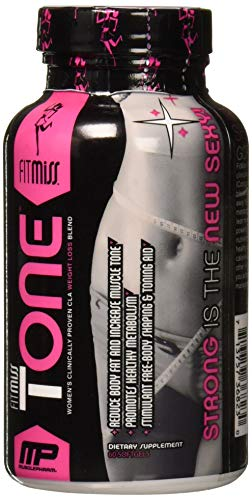 FitMiss Tone, Women's STIMULANT FREE & Mid-Section Fat Metabolizer, Helps Reduce Body Fat, Softgels, 60 Servings