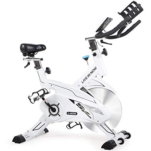 L NOW Indoor Exercise Bike Indoor Cycling Stationary Bike Belt Drive Smooth and Quiet