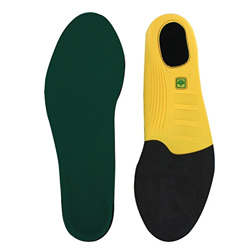 Spenco Polysorb Cross Trainer Athletic Cushioning Arch Support Shoe Insoles,Green Women's 11-12.5/Men's 10-11.5