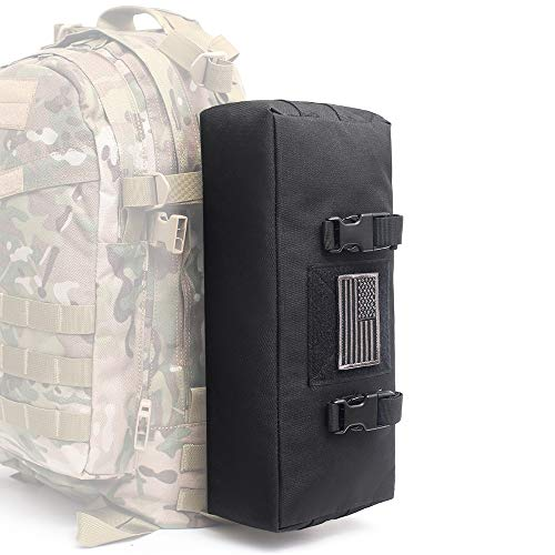 WYNEX Tactical Increment Molle Pouch, Vertical EDC Utility Pouches Sling Bag Military Multi-Purpose Large Capacity with Shoulder Strap Waterproof Attachment Modular Design