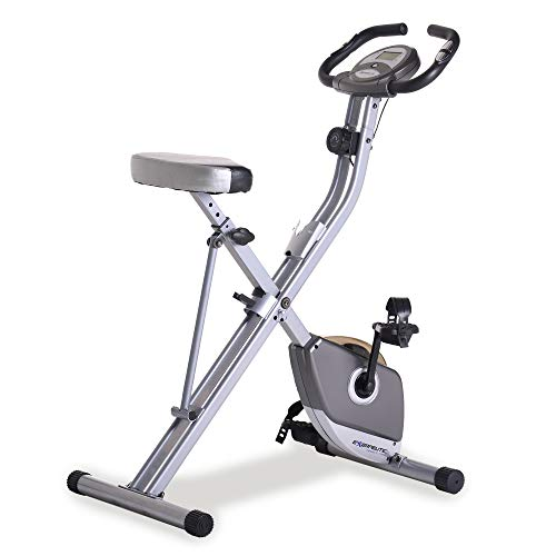 Exerpeutic Folding Magnetic Upright Exercise Bike with Pulse, 31.0' L x 19.0' W x 46.0' H (1200)