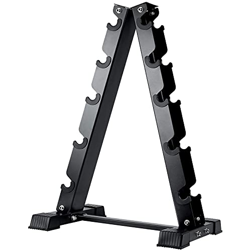 AKYEN A-Frame Dumbbell Rack Stand Only, 5 Tier Weight Rack for Dumbbells (570 Pounds Weight Capacity)