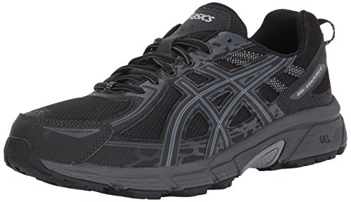 ASICS Men's Gel-Venture 6 Running Shoe, Black/Phantom/Mid Grey, 11 4E US