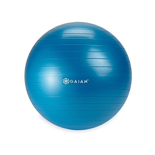 Gaiam Kids Balance Ball - Exercise Stability Yoga Ball, Kids Alternative Flexible Seating for Active Children in Home or Classroom (Satisfaction Guarantee), Blue, 45cm