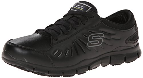 Skechers for Work Women's Eldred Work Shoe, Black, 8 M US