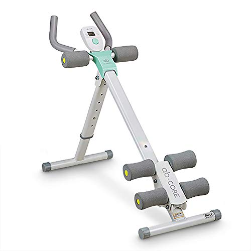 leikefitness Height Adjustable Ab Trainer Abdominal Whole Body Workout Machine Waist Cruncher Core Toner, Leg, Thighs, Buttocks Shaper with LCD Monitor AB9300(Green)