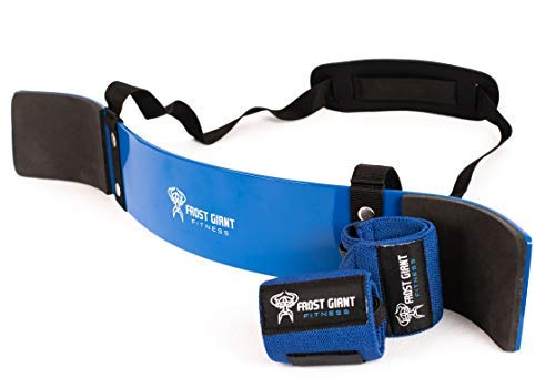 Heavy Duty Arm Blaster Pro + Bonus Wrist Wraps Support | Isolate Muscles for Maximum Strength. Perfect Bicep Curl Support for faster results. Biceps, Tricep & Upper Body Workout (Blue)