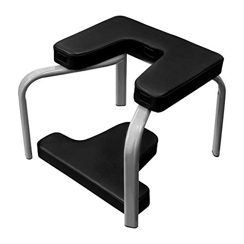 Mianbao015 Hazjje-zatr061 Yoga Auxiliary Inverted Stool Home Multi-Function Inverted Fitness Chair Steel Tube + PU Material Fitness Stool, Red 43x42x37cm (Color : Black)