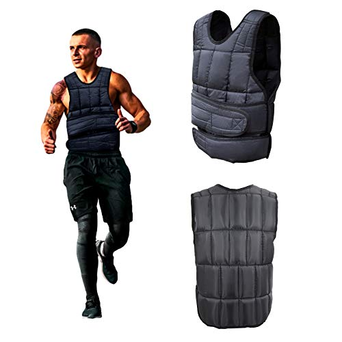 Men Women Adjustable Weighted Vest, 10, 20, 40 lbs Body Weight Equipment for Cardio Workout Fitness Training (40)