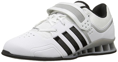 adidas Performance Adipower Weightlifting Trainer Shoe,White/Black/Tech Grey,16 M US