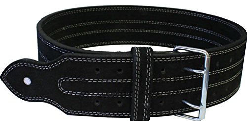 Ader Leather Power Lifting Weight Belt- 4' Black (XX Large)