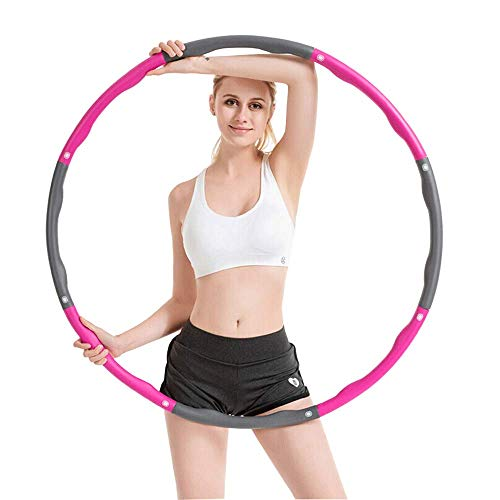 Anyasun Weighted Hoop for Women Weight Loss Exercise Equipment, Burning Fat Calorie Removable Equipment for Fitness & Get Slim