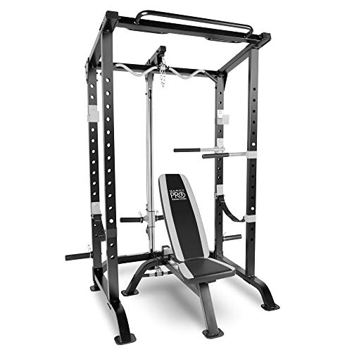 Impex Marcy Pro Full Cage and Weight Bench Personal Home Gym Total Body Workout System
