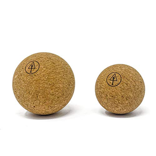 Rawlogy Rustic Ultralight Cork Massage Ball Set (Combo 2.5'+1.9') for Muscle Recovery and Tension Relief