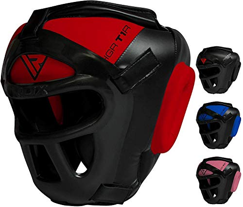 RDX Headgear for Boxing, MMA Training, Head Guard with Removable Face Grill, Cheeks, Ear, Mouth Protection, Helmet for Muay Thai, Grappling, Sparring, Kickboxing, Karate, Taekwondo, Martial Arts