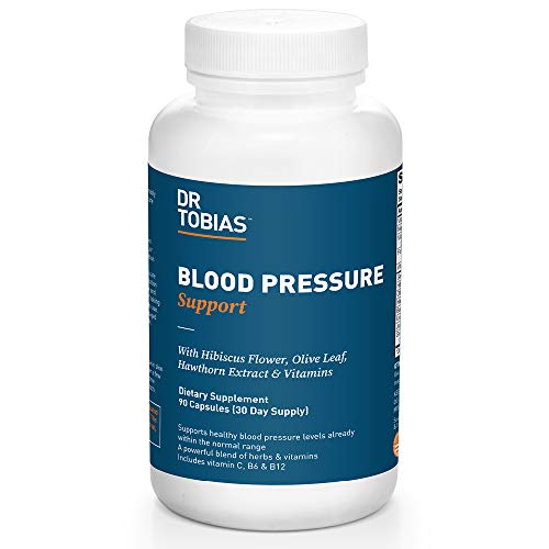 Dr. Tobias Blood Pressure Support Supplement, Herbal Blend, 90 Capsules