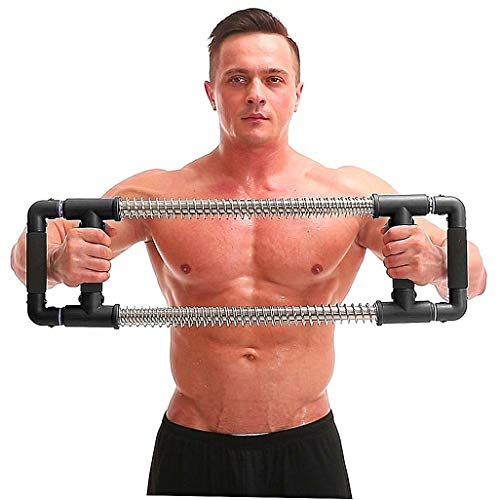 GoFitness Super Push Down Bar - Total Upper Body Workout Equipment, Press Down Machine - Chest Workout, Strength Training, Home Fitness