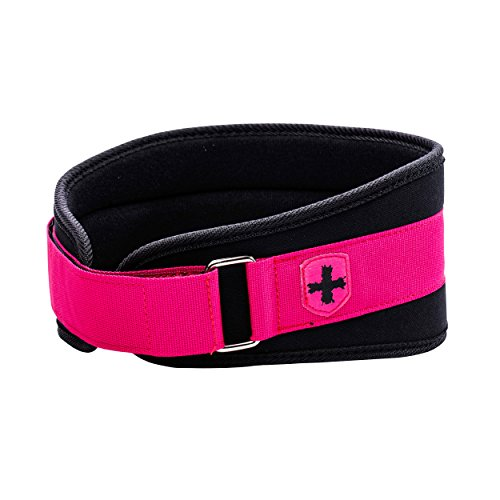 Harbinger Women's Nylon Weightlifting Belt with Flexible Ultralight Foam Core, 5-Inch, Pink, Small