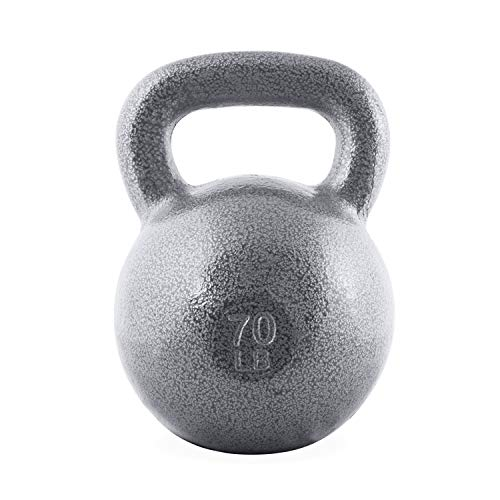 WF Athletic Supply Hammerstone Cast Iron Kettlebell - 13, 10-80 Pounds - Core Strength, Functional Fitness, and Weight Training Set - Free Weight, Equipment, Accessories (m. 70 LB)
