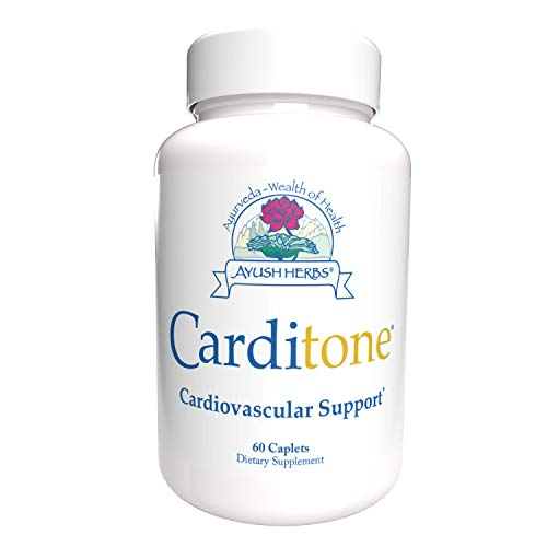 Ayush Herbs Carditone, Unbeatable Blood Pressure and Cardiovascular Support Herbal Supplement, 60 Tablets