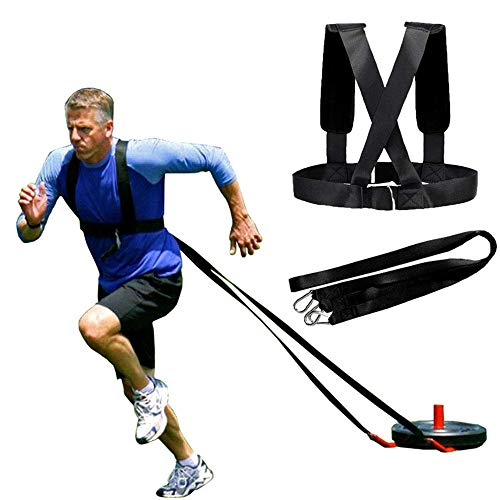 SuxHeart Sleigh Harness Shoulder Strap Physical Training Weight-Bearing Running Resistance Training Band Muscle Burst Endurance Strength Training