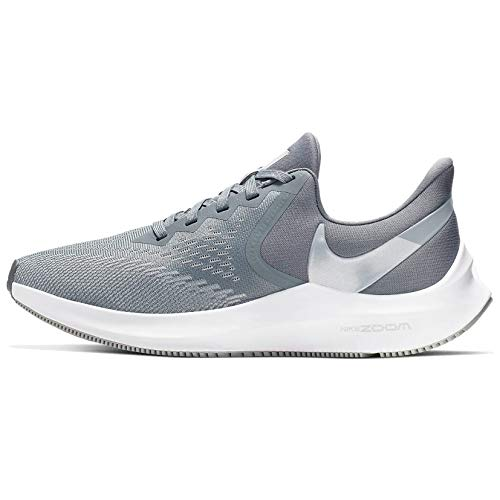 Nike Women's Zoom Winflo 6 Running Shoes, Multicolour (Cool Grey/MTLC Platinum/Wolf Grey/White 2), 7.5 US