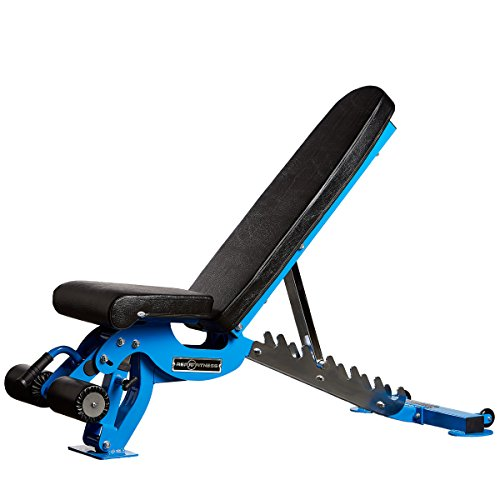 Rep Adjustable Bench – AB-3000 FID – 1,000 lb Rated – Flat/Incline/Decline - Blue