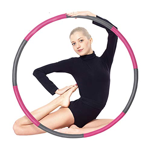 Auoxer Fitness Exercise Weighted hoops, Lose Weight Fast by Fun Way to Workout, Fat Burning Healthy Model Sports Life, Detachable and Size Adjustable Design